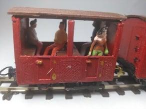 Open Narrow Gauge 009 Passenger Carriage