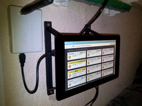 Raspberry Pi Official 7 Inches Touchscreen Simple Wall Mounting