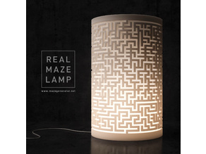 Generative design. Real maze lamp (LQ)