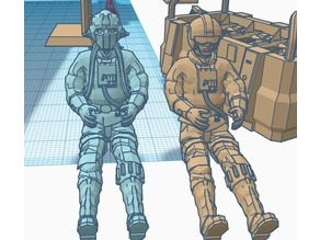 Rebel Z95 Pilots - Human and Tognath (Legion 1/48 scale)