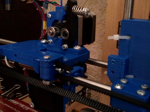 Direct drive extruder for carriage mendel90 and E3D hotend.