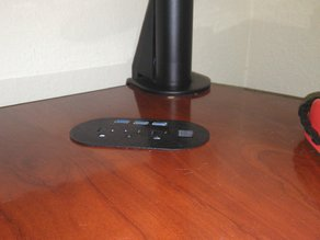 Desk Grommet with USB, AC, and Rj-45