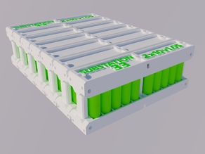 Solar PV or EV (Electric Vehicle) 18650 modular battery pack from recycled e-waste laptop batteries