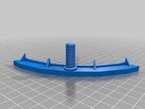 Reinforced spiral rod on Concept! FLSUN Delta Kossel Mini Adjustable Bed Holder