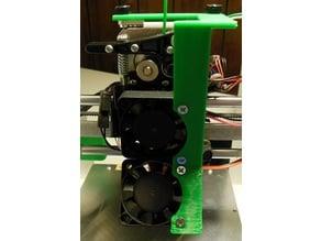 Printrbot Play 40mm Extruder Fan plus 40mm PLA Fan Mount