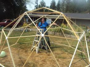 2V Geodesic Dome Connectors for 1x2 lumber