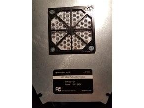 60mm Fan Filter Holder for Monoprice Mini Delta