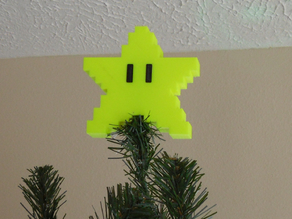 Pixel tree topper star eyes