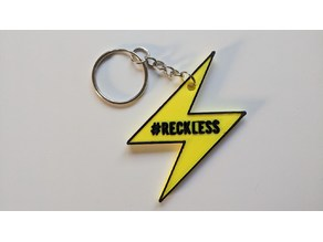 Lightning Network #Reckless Keychain