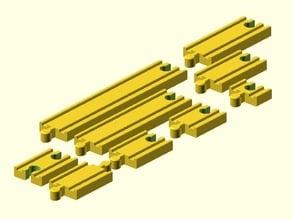 Toy Wood Train Track / Spielzeug Holzeisenbahn Schienen / Gerade / BRIO Thomas IKEA eBay kompatibel