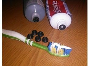 Toothpaste economy sub-lid. Toothpaste saver lid