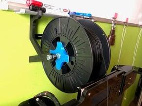 Tray-hung spool holder