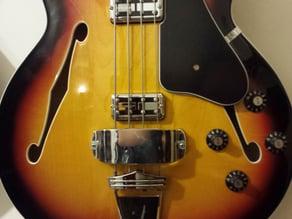 Adapter to mount jazz bass pickup shield on fender coronado bass ii (modern player reissue)