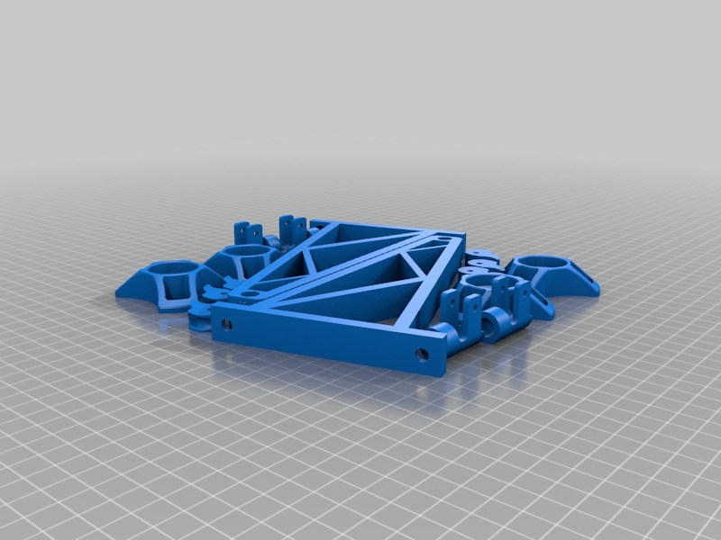 Remix and Build Plate of Wall-mount Spool holder with quick