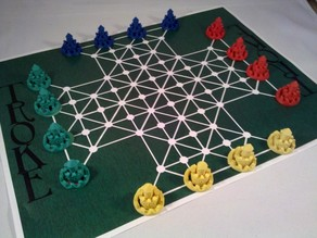 Troke Game Pieces and Board 3D Print and Play