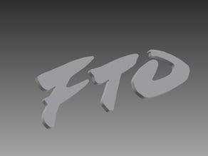 Mitsubishi FTO badges