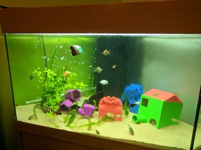 Magnetic Fish Feeder for live and frozen cubes