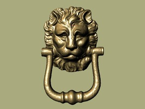 Functional Lion Head Door Knocker