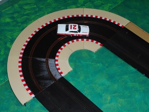 R1.5 cambered curve - slot car track and borders - Scalextric