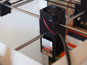 Ultimaker 2 Lasercutter Mount (Alternative Print Head)