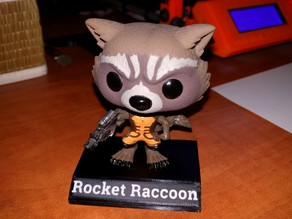 Funko Pop! Rocket Raccoon display stand