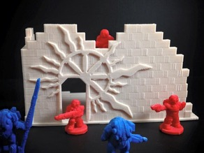 Cosmopolis Ruins Preview (18mm scale)