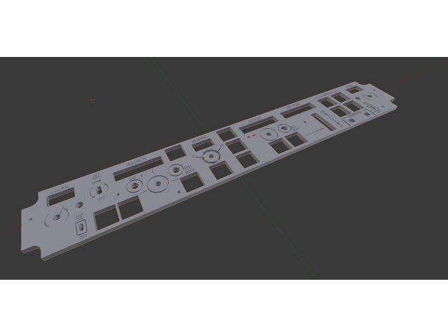 Boeing 737 Collins MCP Front Panel by salunmarvin - Thingiverse