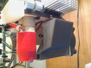Printrbot Simple 1401 Fan shroud with bypass extruder cooling