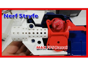 Nerf Stryfe (UltraStryfe) Max FPS Brushless Barrel & Rails