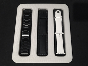Apple Watch Band Stand, with parts drawer