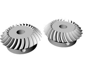 Helical Miter Gear Set 25mm Pitch diameter