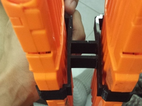 Dual Mag-holder for NERF Nstrike 18-clip