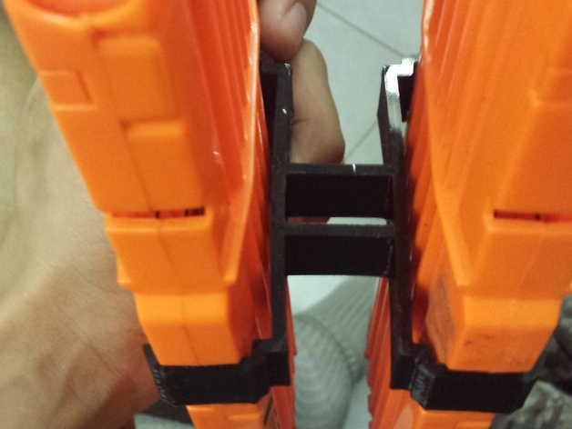 Nerf Magazine Holder Dual Magholder for NERF Nstrike 41clip by reversehaven Thingiverse 23