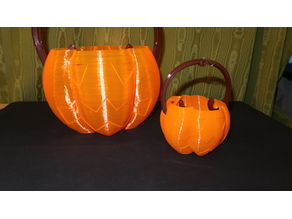 Fast printable LARGE Halloween Candy Bucket (with handle)