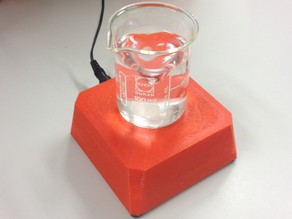 Magnetic stirrer from a 80 mm fan