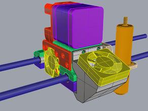 J Head MK8 carriage for Da Vinci