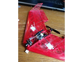 300mm Micro brushless 3d printed wing