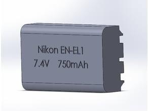 Nikon EN-EL1 battery pack AA adapter (in progress)