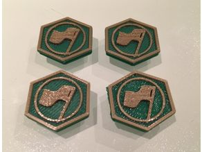 Scythe Invaders From Afar Tokens