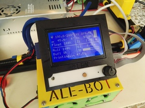 Yet another Ramps+Arduino Mega 2560+LCD 12864 + tinyfan enclosure