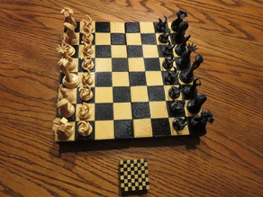Hinged Chess Board Box