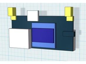 RX5808 Diversity - Negativ form for own cases  / Placeholder