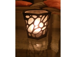 Organic shaped candle holder