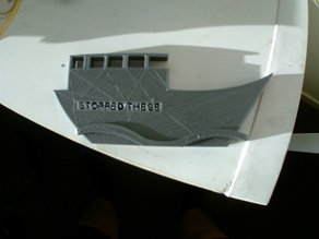 scott morison's boat plaque
