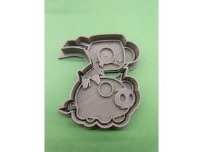 Gir Riding Piggy Cookie Cutter