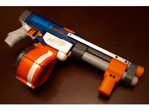 Nerf vertical shotgun pump grip
