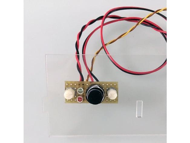 NAS Mini-ITX case poerbutton plexy