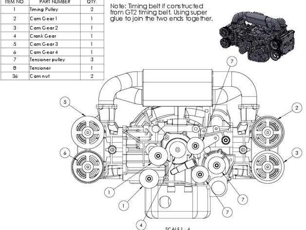 Subaru Wrx Ej20 Boxer Engine Model - Fully Functioning By Ericthepoolboy