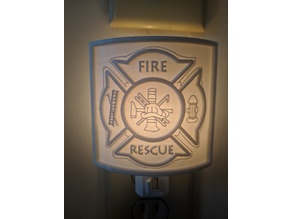 Maltese Cross firefighter Lithophane