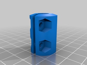 "My Customized Parametric Rigid Coupler 5/16"" to 5mm on Mostly Printed CNC"